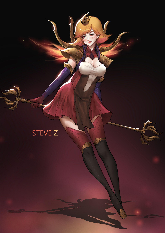 Artstation Fire Elementalist Lux Steve Zheng League Of Legends Lol League Of Legends Female Characters