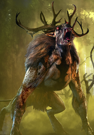 The Witcher 3 Gwent Card Art Witcher Monsters Creature Concept Art Fantasy Creatures