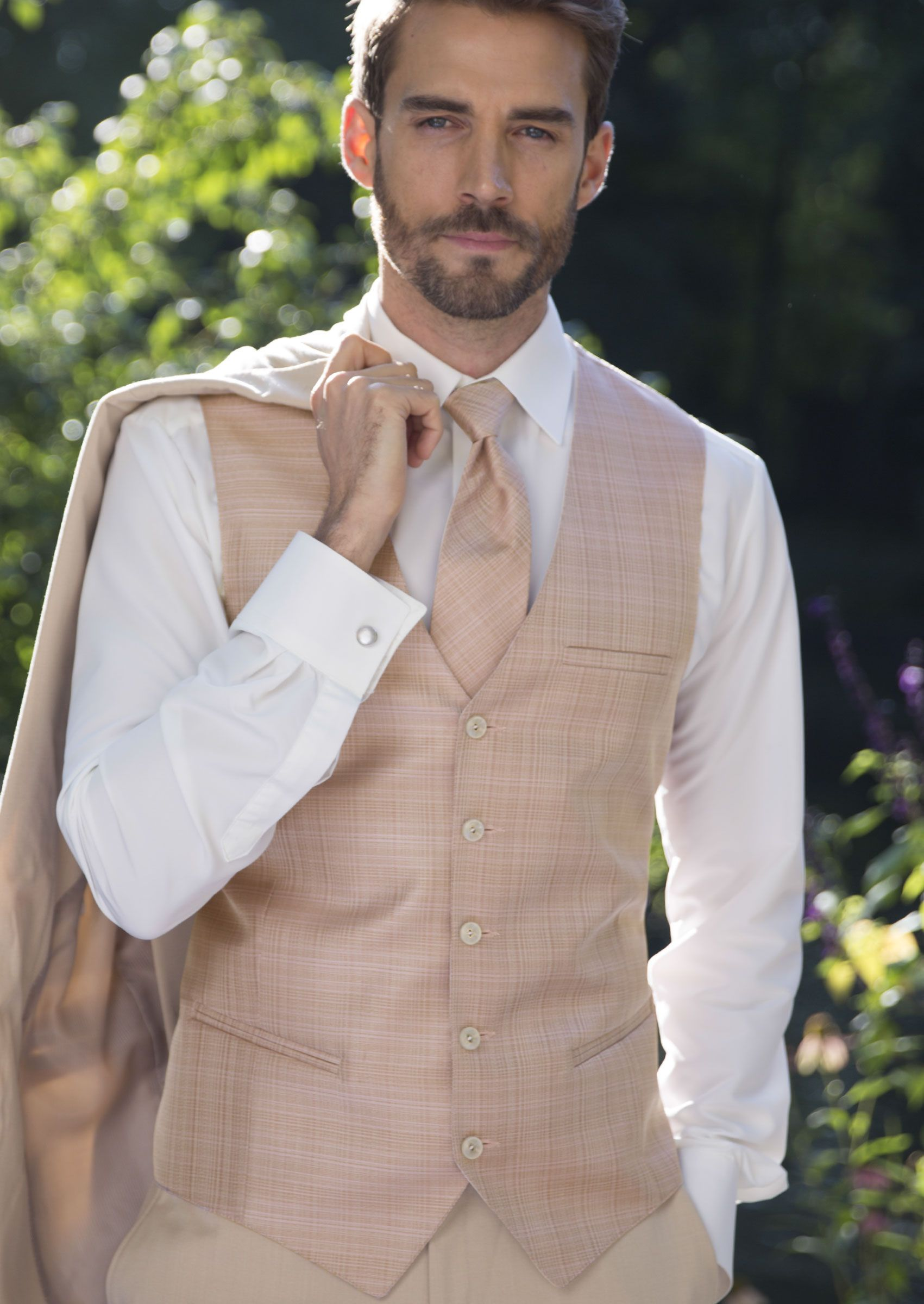 Michael Kors Rose Gold Austin Vest Mens fashion suits