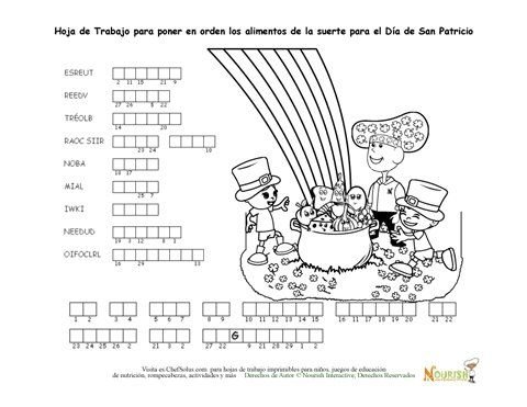 Fun St Patrick's Day themed word puzzles that promote