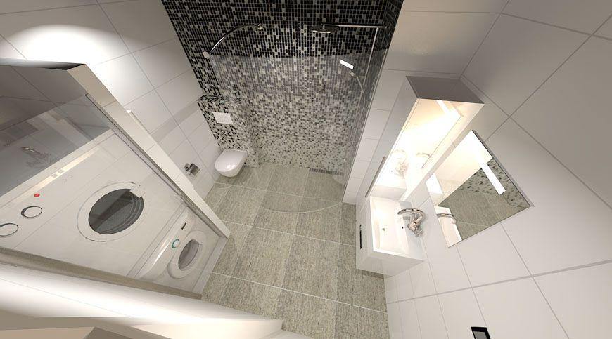 Badkamer met wasmachine en droger oplossing jpg   Home ideas   Pinterest   Washer