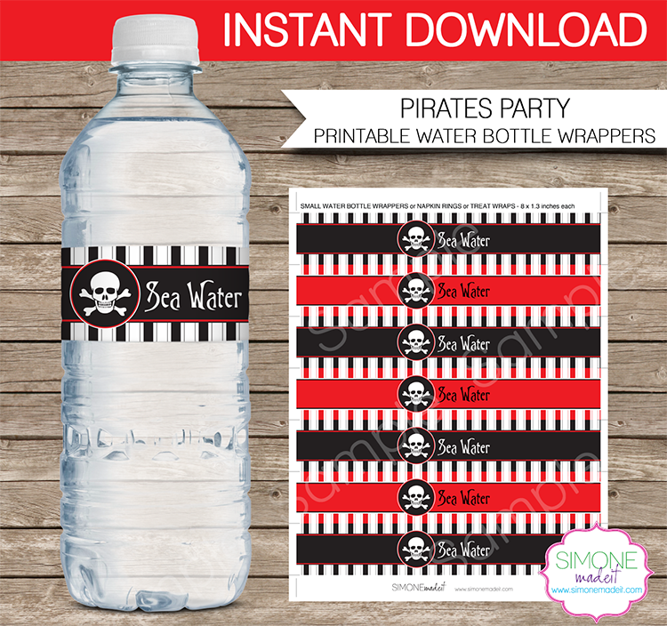Pirate Party Printables, Invitations & Decorations – red & black ...