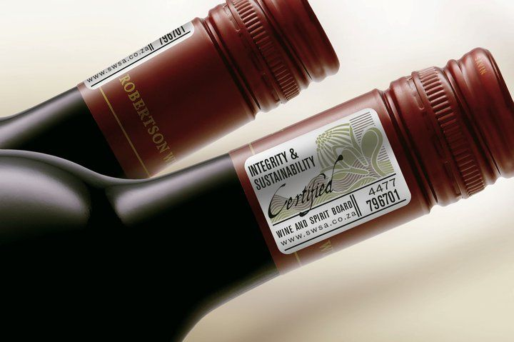 Integrity and sustainability seal accredited by the Wine and Spirit board.