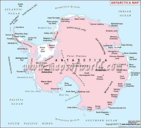 Antarctica #Map | Continent Maps | Antarctica, Map ...