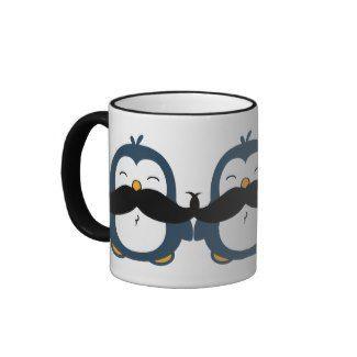 Mustache Penguin Coffee Mugs