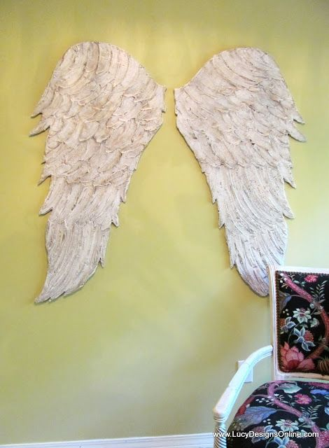 Large Hand Made Textured Feathered Angel Wings Wall Art https://www ...