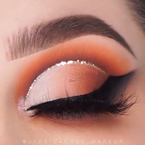 Glitter Cut Crease Makeup #makeup