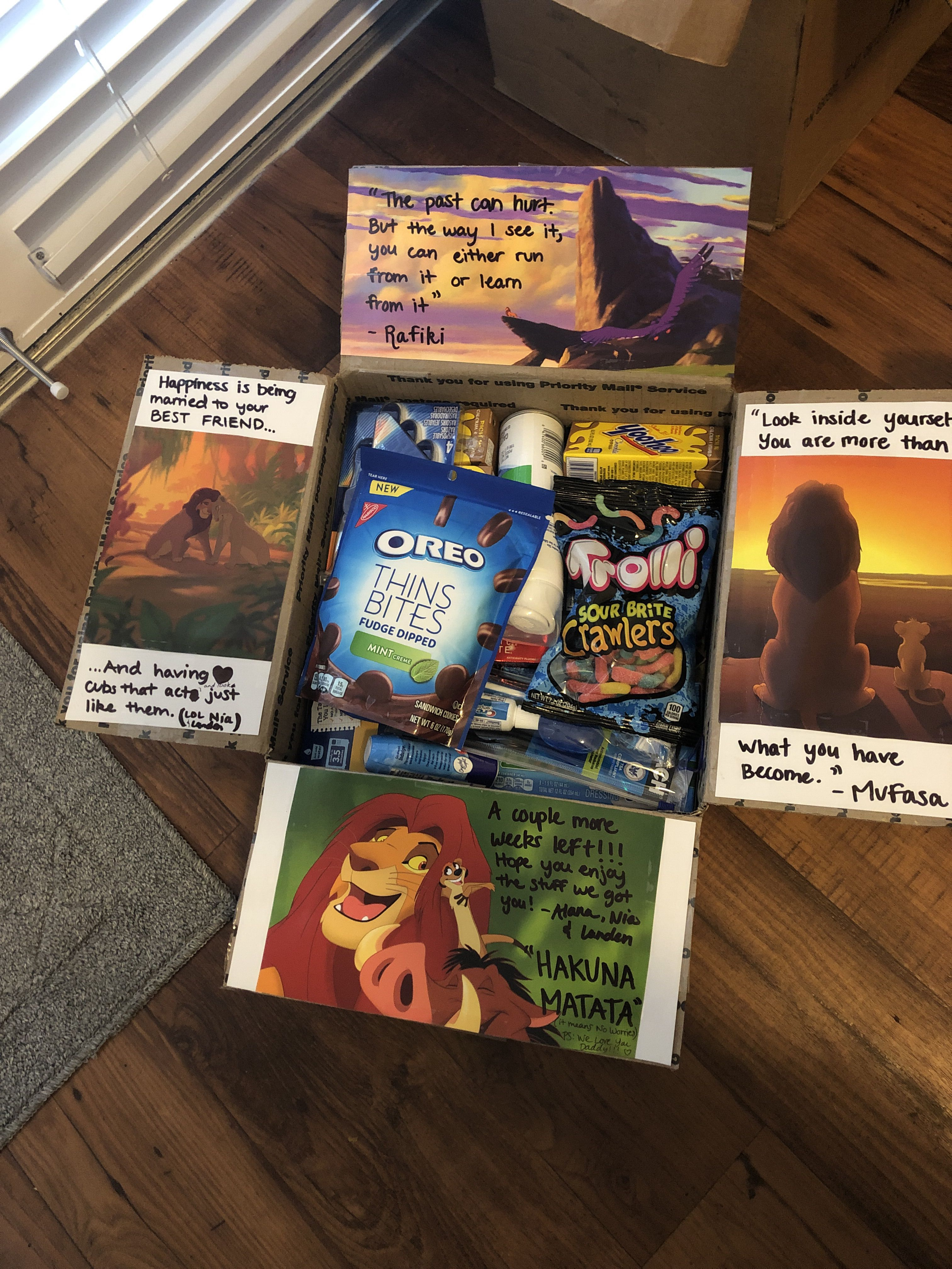 Lion king care package King gifts, Lion king birthday