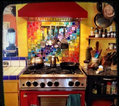2016 Tile Trend Rainbow Kitchen Beautiful Kitchen Designs