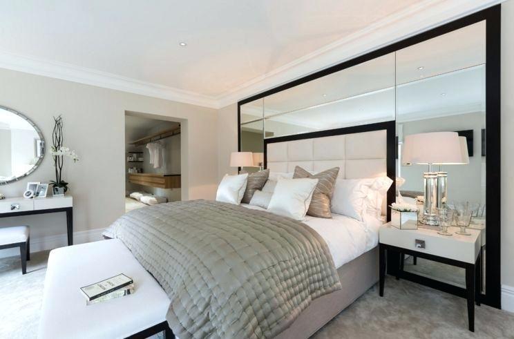 Mirror Headboard Bed Mirrored Headboard Wall Mirror Above Bed