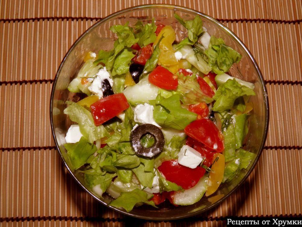 Греческий салат с фетой классический рецепт с фото ...