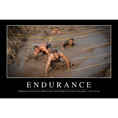 Endurance Inspirational Quote and Motivational Poster Canvas Art - Stocktrek Images (34 x 23)