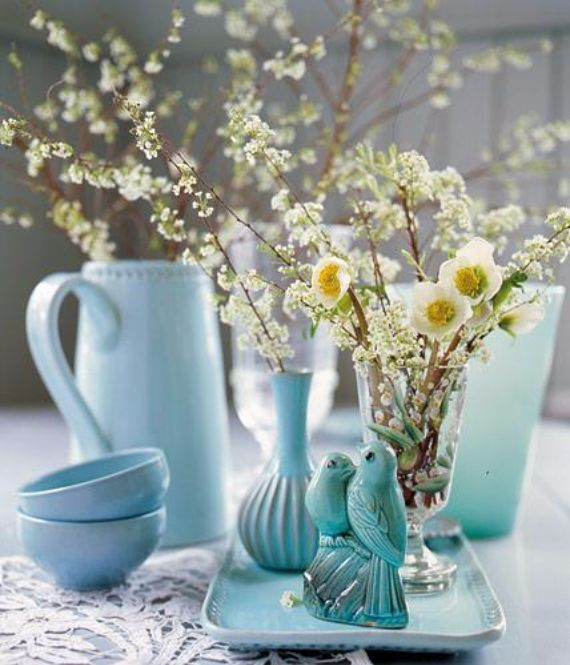 Awesome Creative Easter Table Setting Ideas In Blue And White (1)