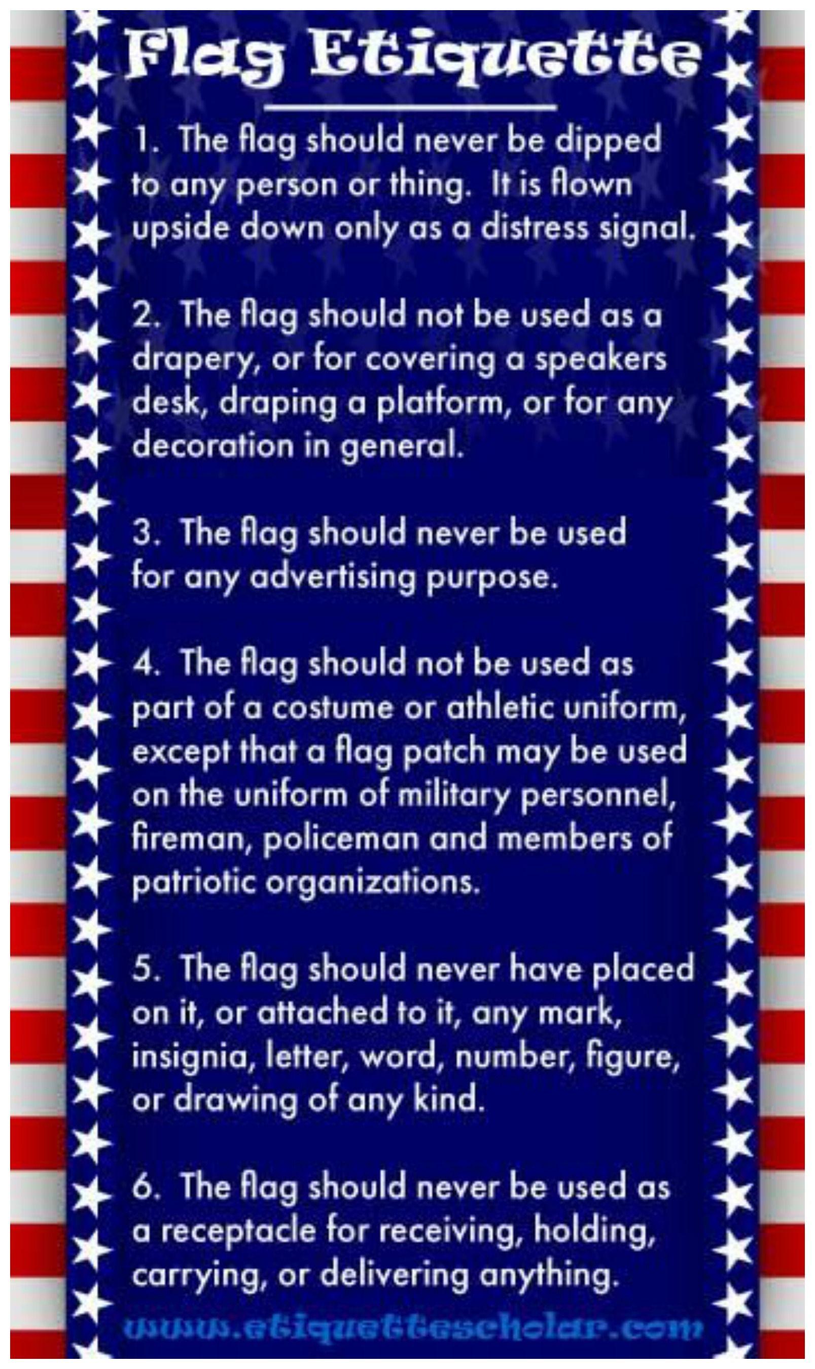 Flag Etiquette Flag Etiquette Us Flag Etiquette Etiquette