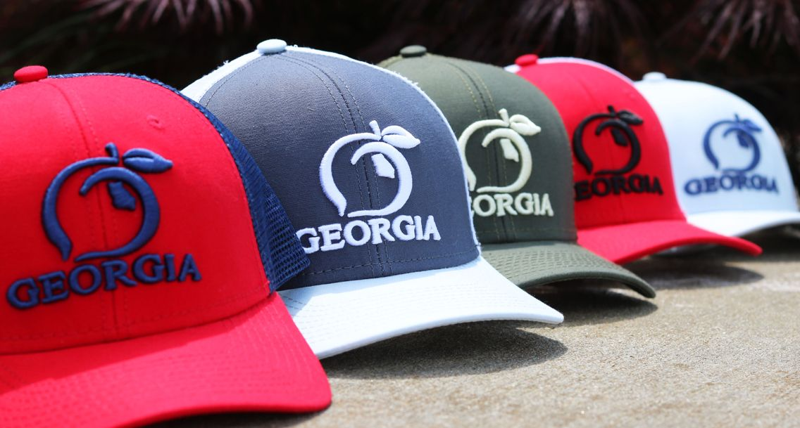 e14cb8a189df19 BACK IN STOCK: Guys, your favorite Peach State Pride hats have landed.  Don't be caught without one this summer!