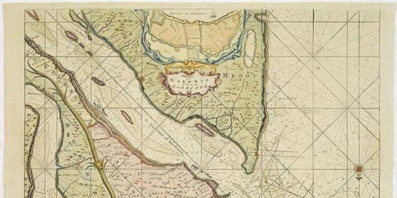 Une carte marine de l'estuaire de la Gironde de 1703 vendue jeudi