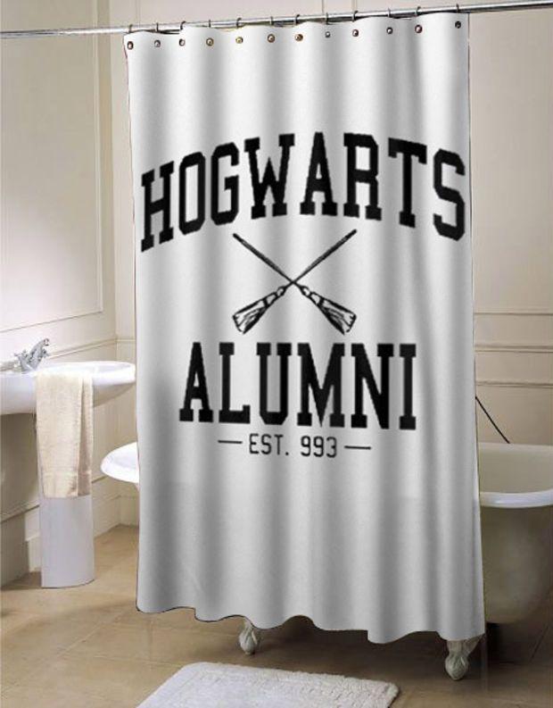 Hogwarts Alumni Harry Potter Shower Curtain Customized Design For