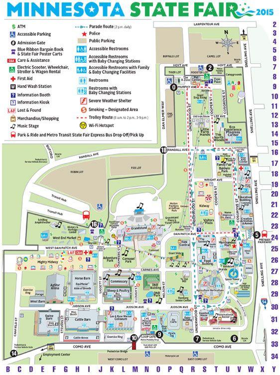 State Fair Mn Map 2015 Minnesota State Fair Map | Minnesota State Fair | Minnesota