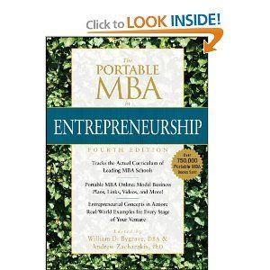 The Portable MBA in Entrepreneurship (The Portable MBA Series): William D. Bygrave, Andrew Zacharakis: 9780470481318: Amazon.com: Books