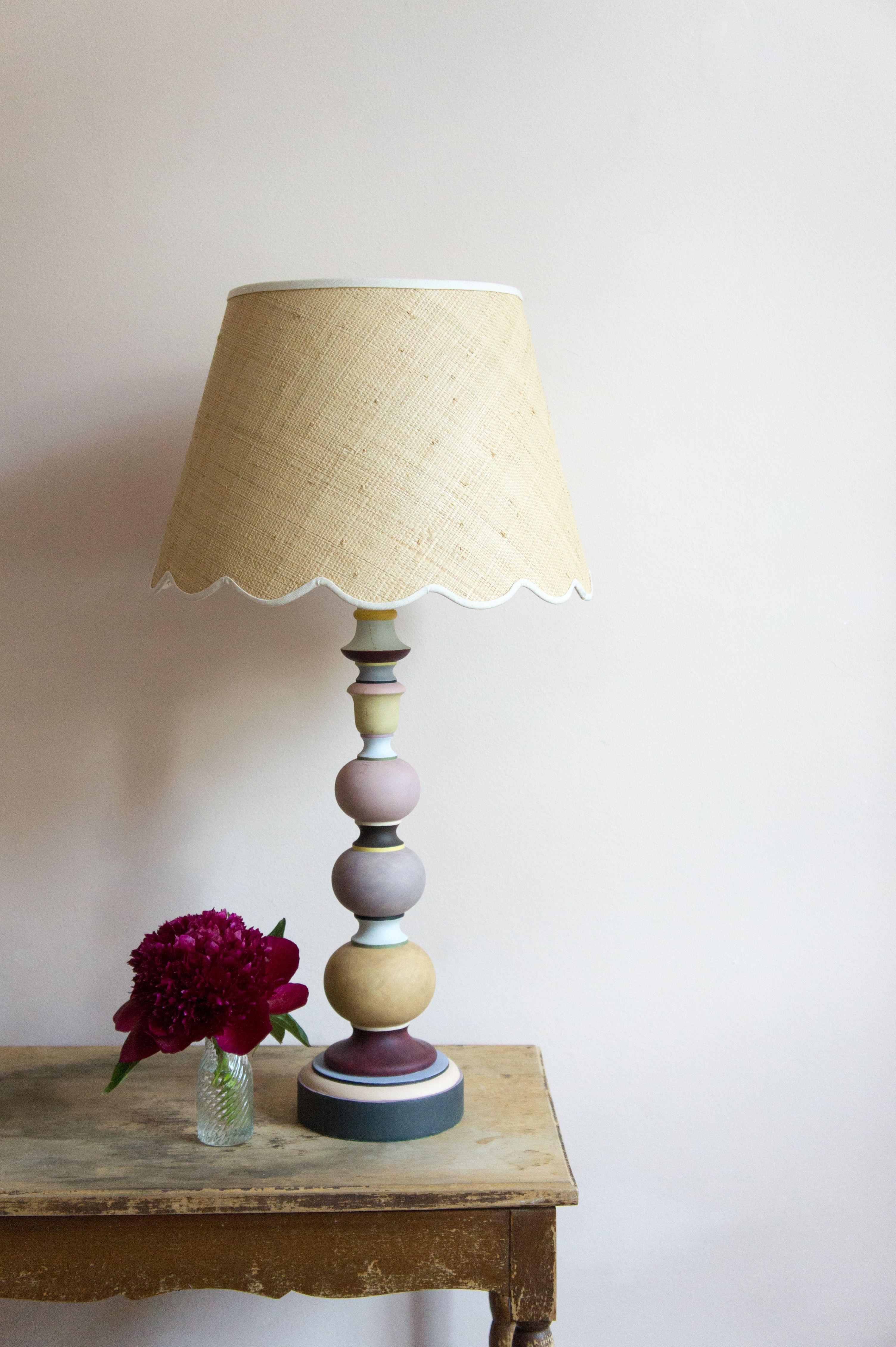 Matilda Goad raffia scallop lampshade | House interior