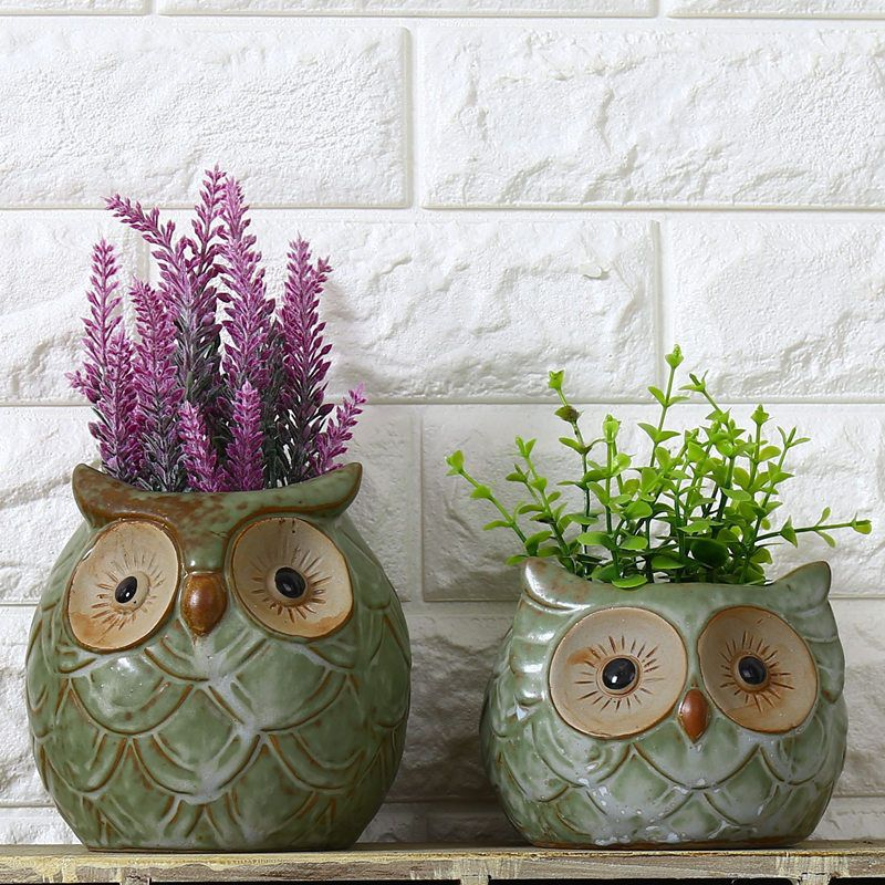9 9 Ceramic Flowerpot Cartoon Owl Shaped Pot For Succulents Fleshy Plants Flowerpot Ebay Home Garden Flower Pots Garden Plant Pots Ceramic Flower Pots