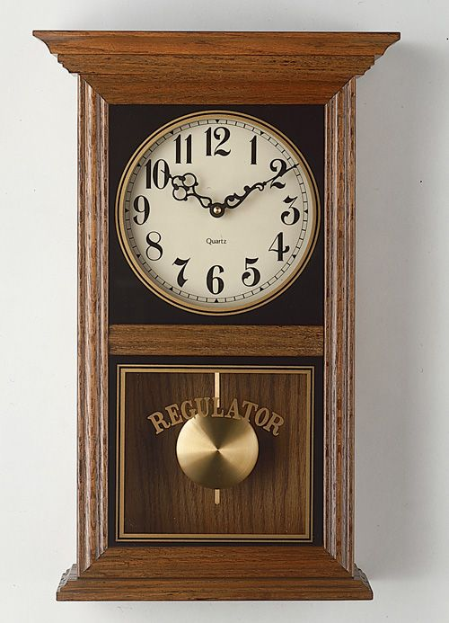 Regulator pendulum clock httpwwwcreativeironorgclockshtm
