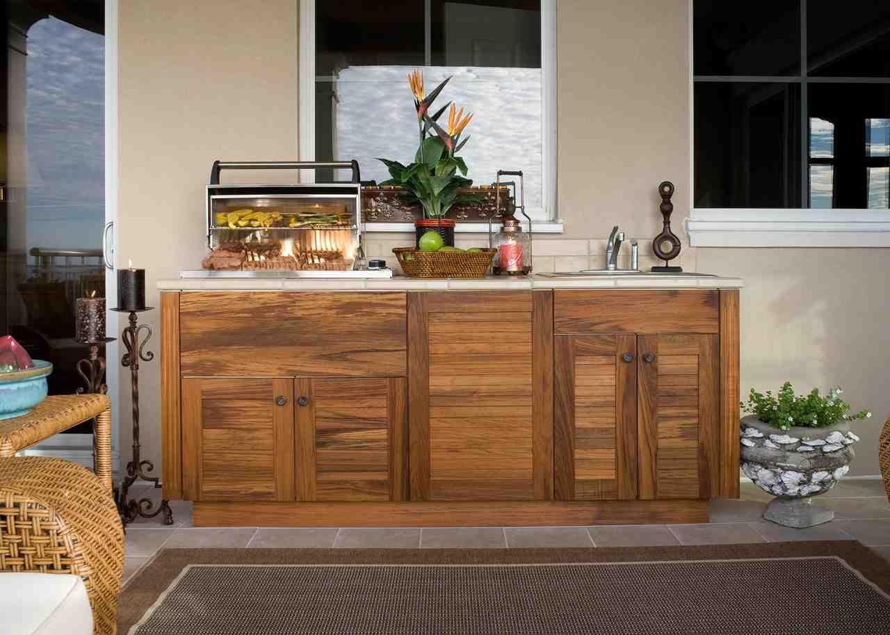 Beau Diy Outdoor Kitchen Cabinets