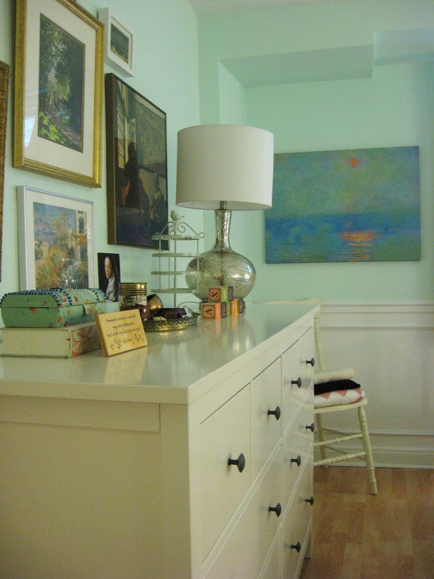 Benjamin Moore Creme de Mint paint color   Guest Bedroom ...