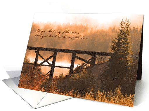 Thanksgiving Beauty - Autumn Scene card