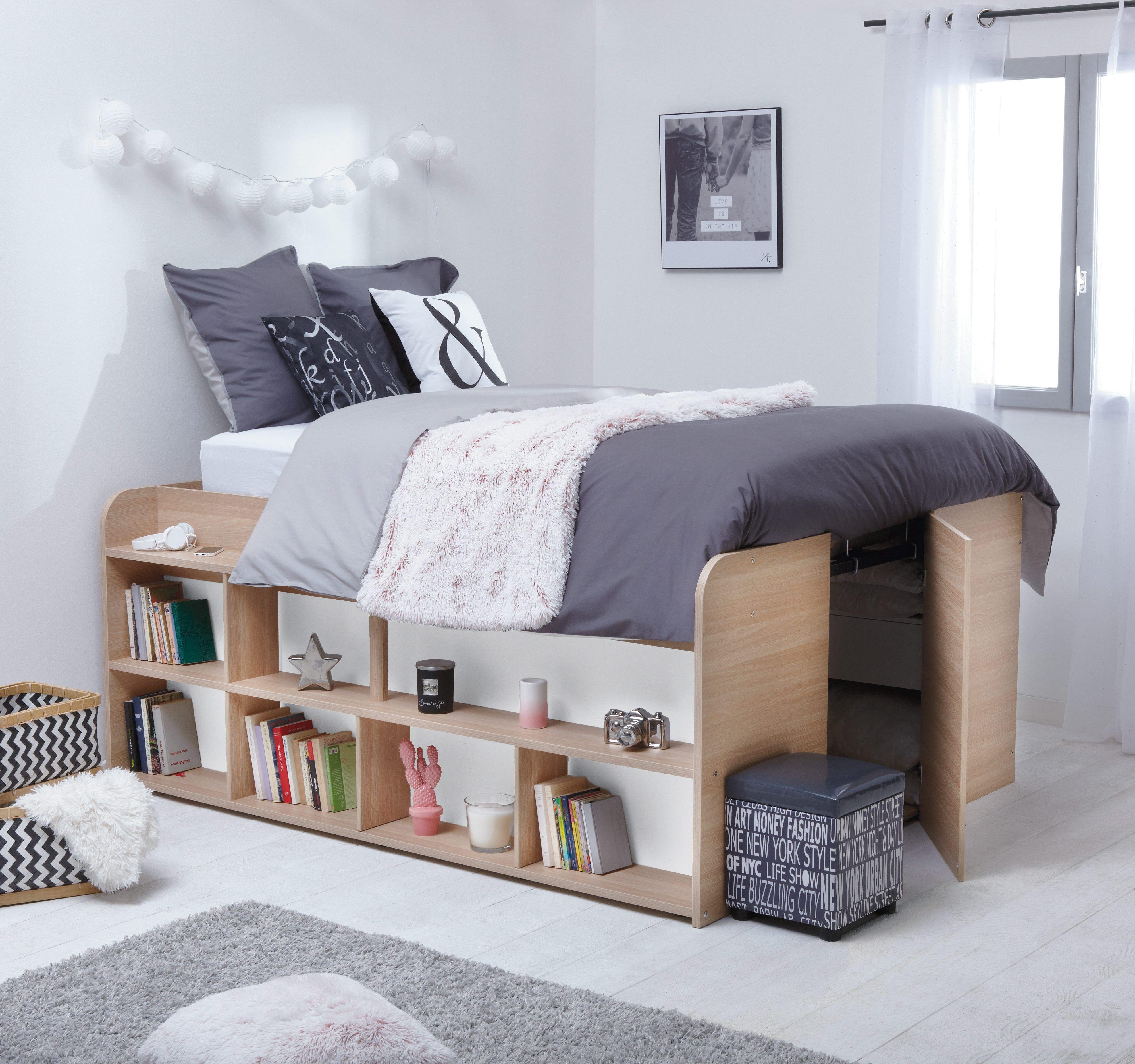 30 chambres d ado qui ont du style rangement sous le lit rangement et lits. Black Bedroom Furniture Sets. Home Design Ideas