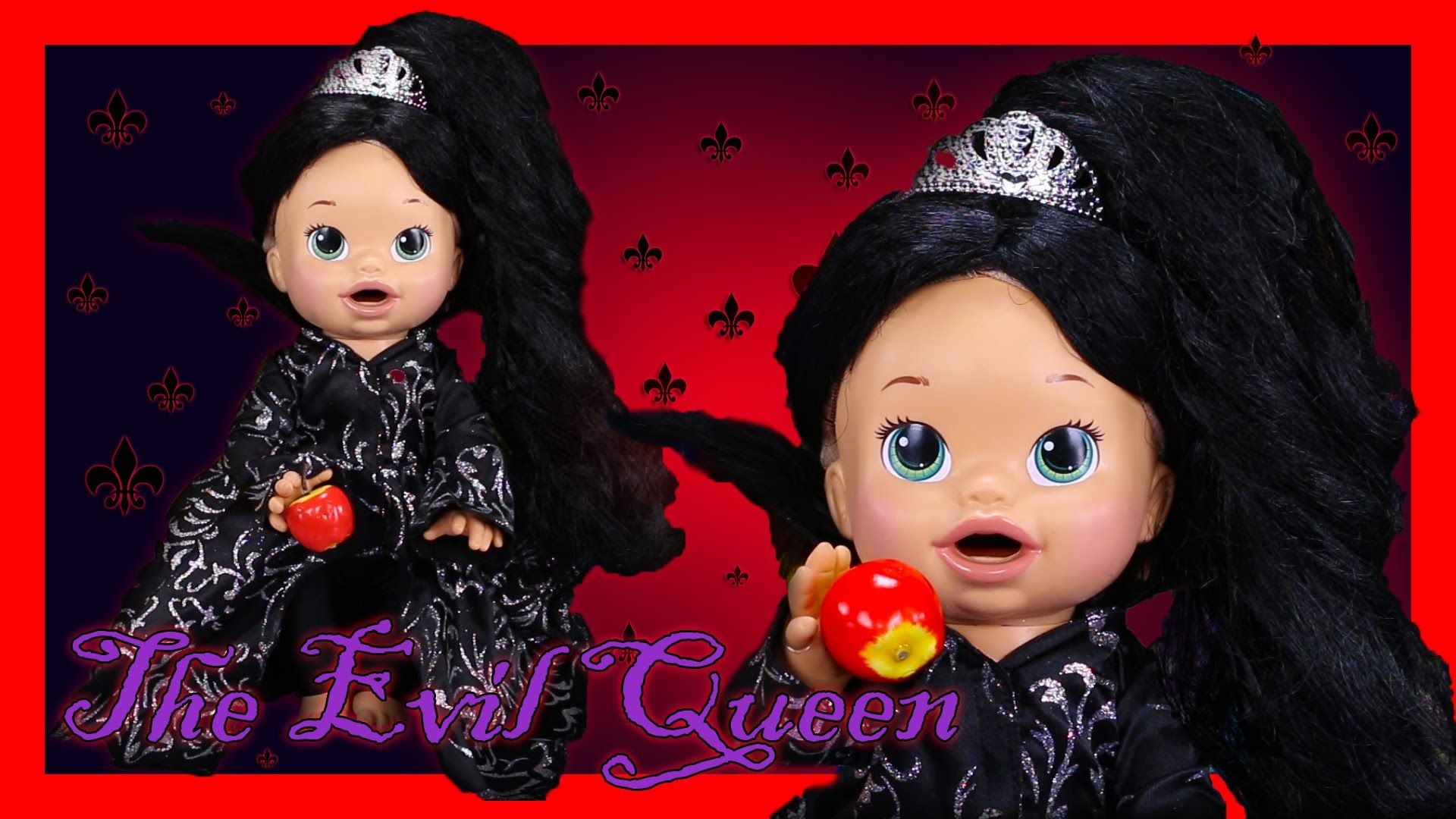 Evil Queen Once Upon A Time Custom Baby Alive Eats Play Doh Poops Surprise Blind Bags Baby Alive Custom Baby Blind Bags