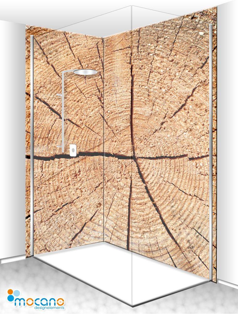 Holzstruktur Fichte 2 Duschrückwand [80x210, 120x210