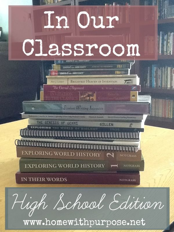 In Our Classroom: High School Edition (2014/2015 School Year) - Home With Purpose