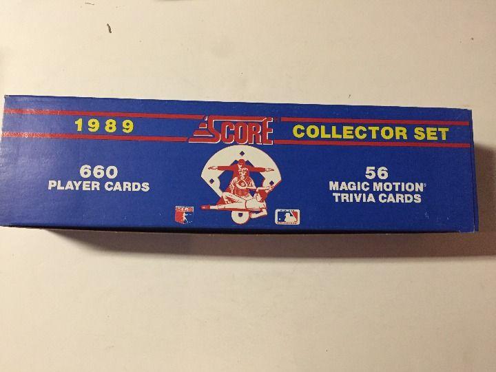 Cool item 1989 score baseball collector set baseball