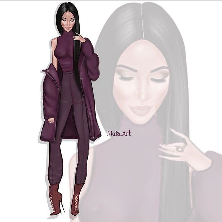 Image result for nidia art kim kardashian