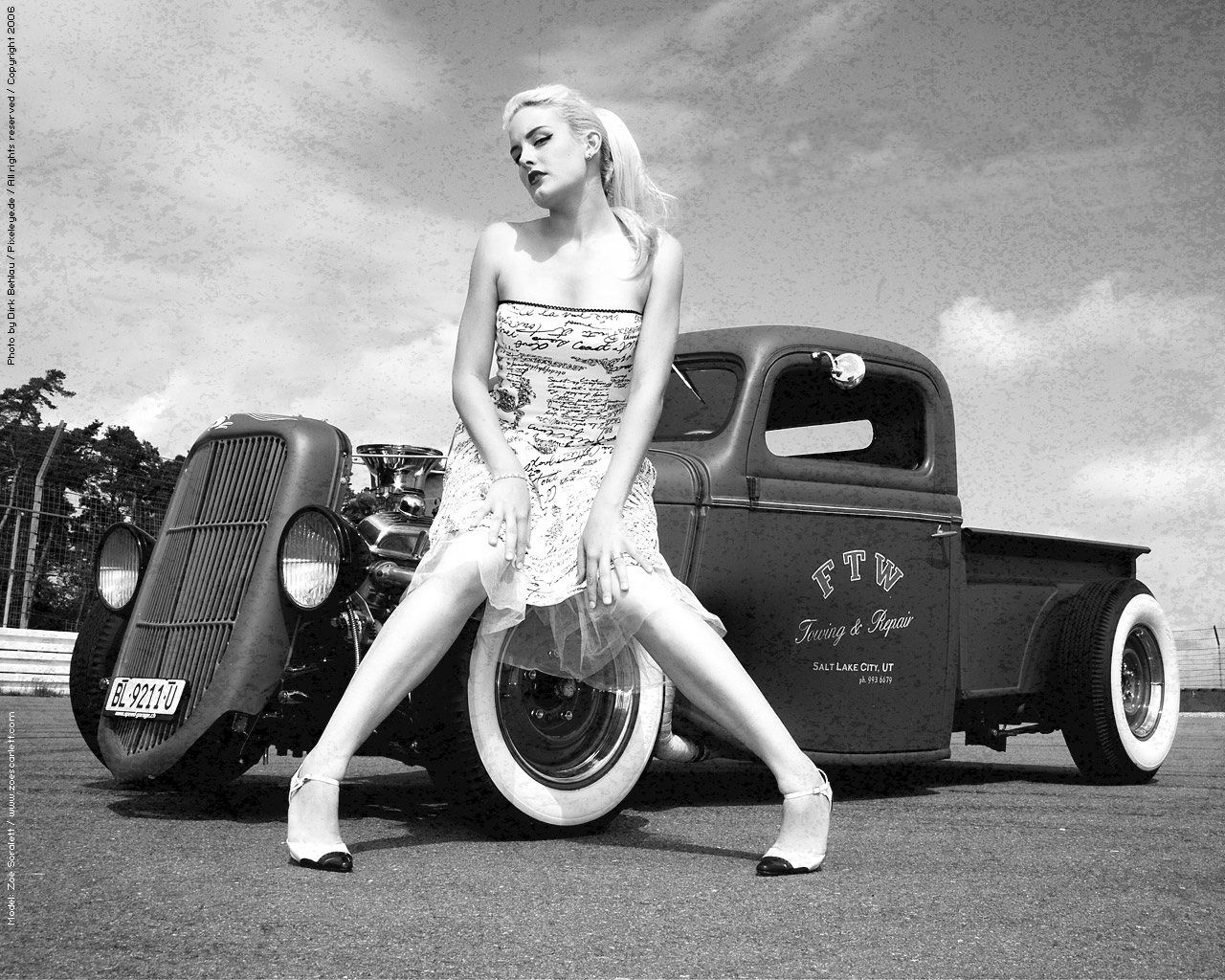 Sexy girls with hot rod trucks opinion you