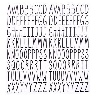 Darice® Large Narrow Handwriting Font Letter Stickers