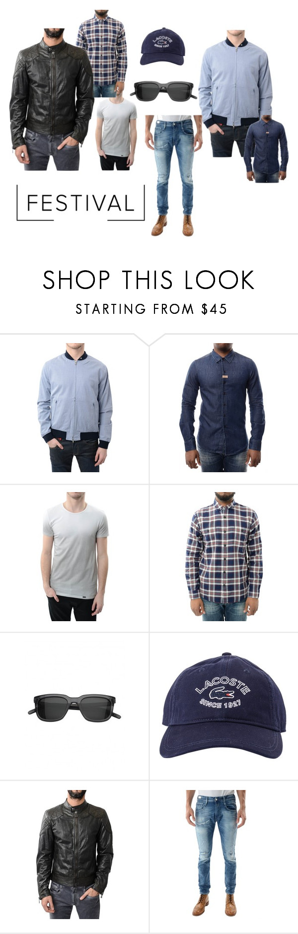 """""""Festival"""" by accentclothing ❤ liked on Polyvore featuring Peter Werth, Lacoste, Belstaff, men's fashion and menswear"""