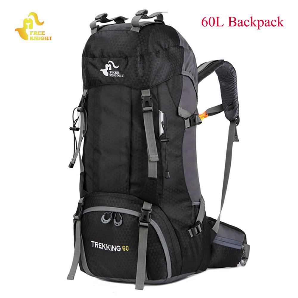 Free Knight 60L Waterproof Climbing Hiking Backpack Rain Cover Bag 50L  Camping Mountaineering Backpack Sport Outdoor Bike Bag 92d3f2d6f0