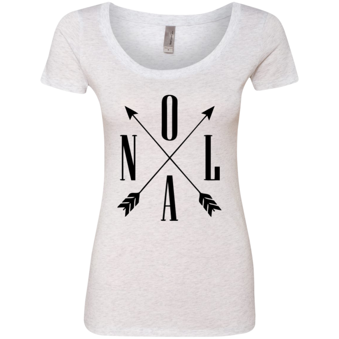 NOLA Arrow Ladies Triblend Scoop Lady, Clothes, Tees