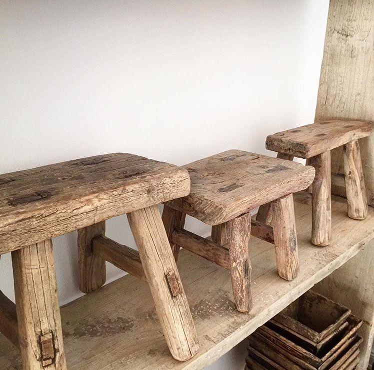 Terrific Small Rustic Wooden Stools Wabi Sabi In 2019 Rustic Spiritservingveterans Wood Chair Design Ideas Spiritservingveteransorg