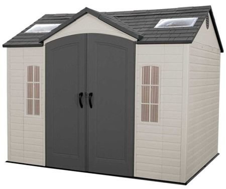 Lifetime 10x8 Garden Storage Shed Kit W Floor Outdoor Storage Sheds Plastic Sheds Shed Storage