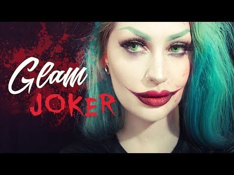 glam joker makeup tutorial  joker makeup joker makeup