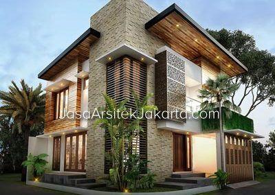 desain rumah 2 lantai luas bangunan 200 m2 bp prayoga