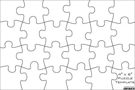 Image Result For 24 Piece Puzzle Template