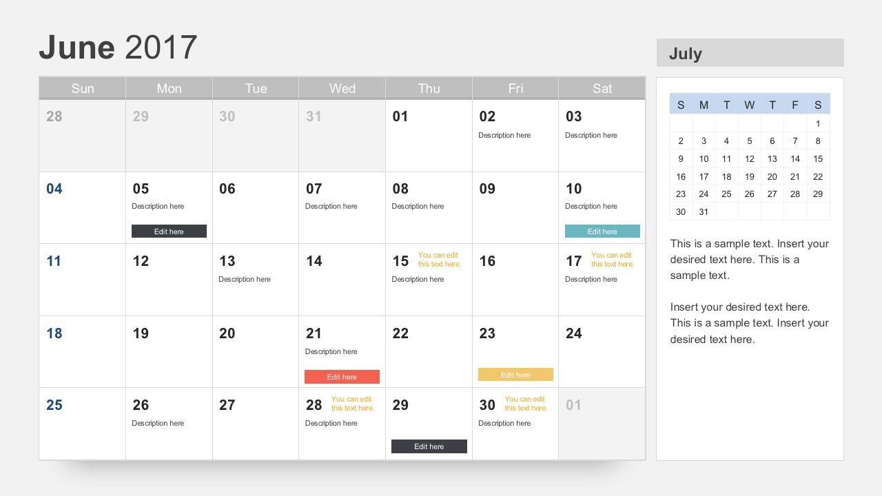 Free Calendar 2017 Template Regarding Microsoft Powerpoint