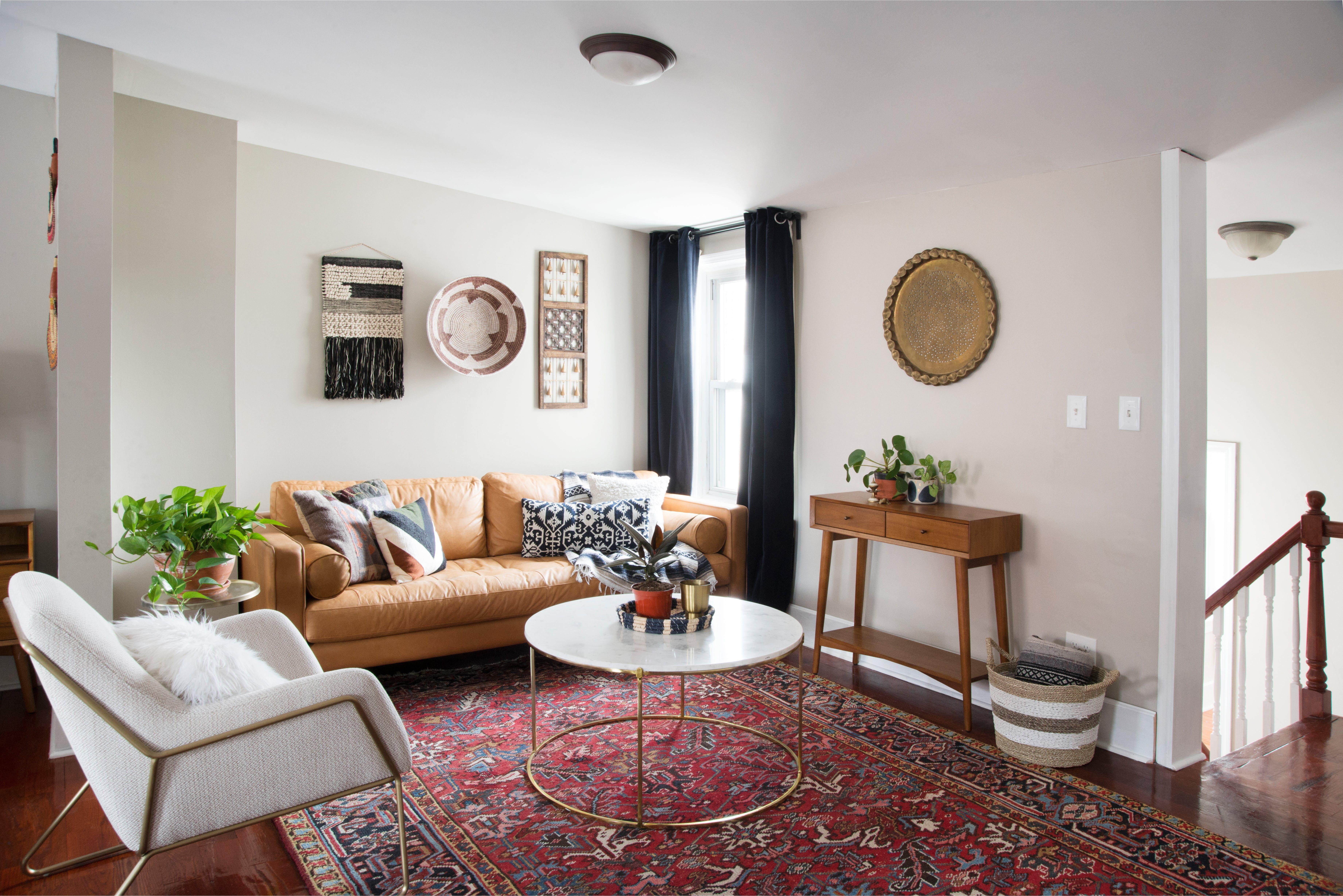 An 1860s Philadelphia Row Home Aces The Retro Eclectic Look Home Living Room Home Easy Home Decor #row #home #living #room #ideas
