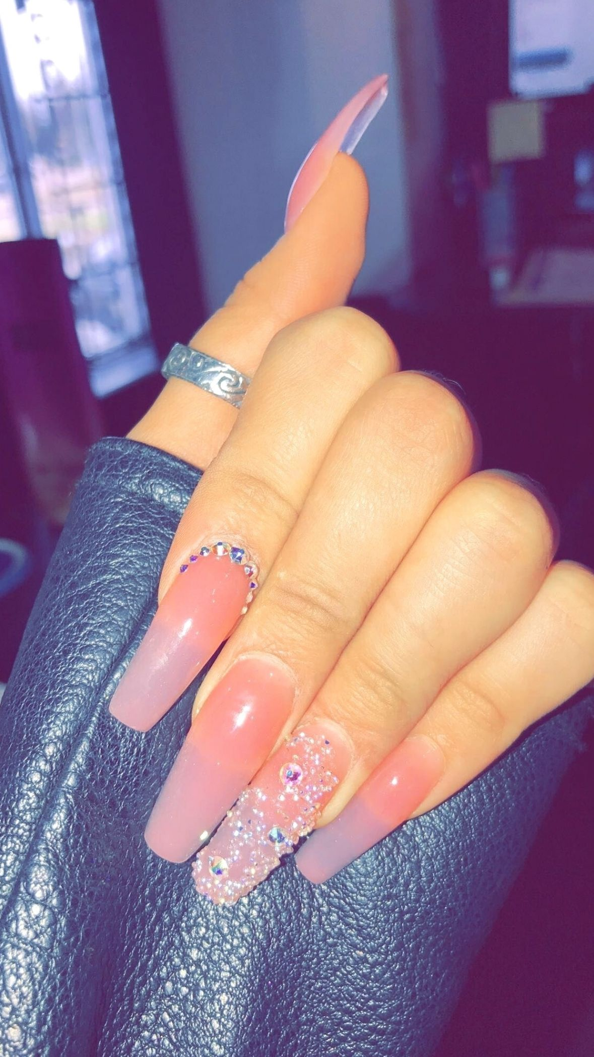 How To Live With Acrylic Nails 15 Beautiful Acrylic Nail Designs Beauty Home In 2021 Pink Acrylic Nails Dark Pink Nails Clear Acrylic Nails