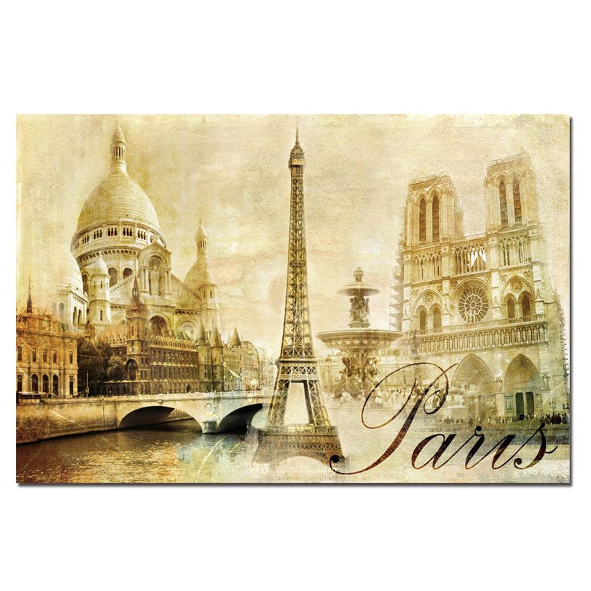 Canvas Printings Paris Painting For Living Room Wall Art Pictures ...