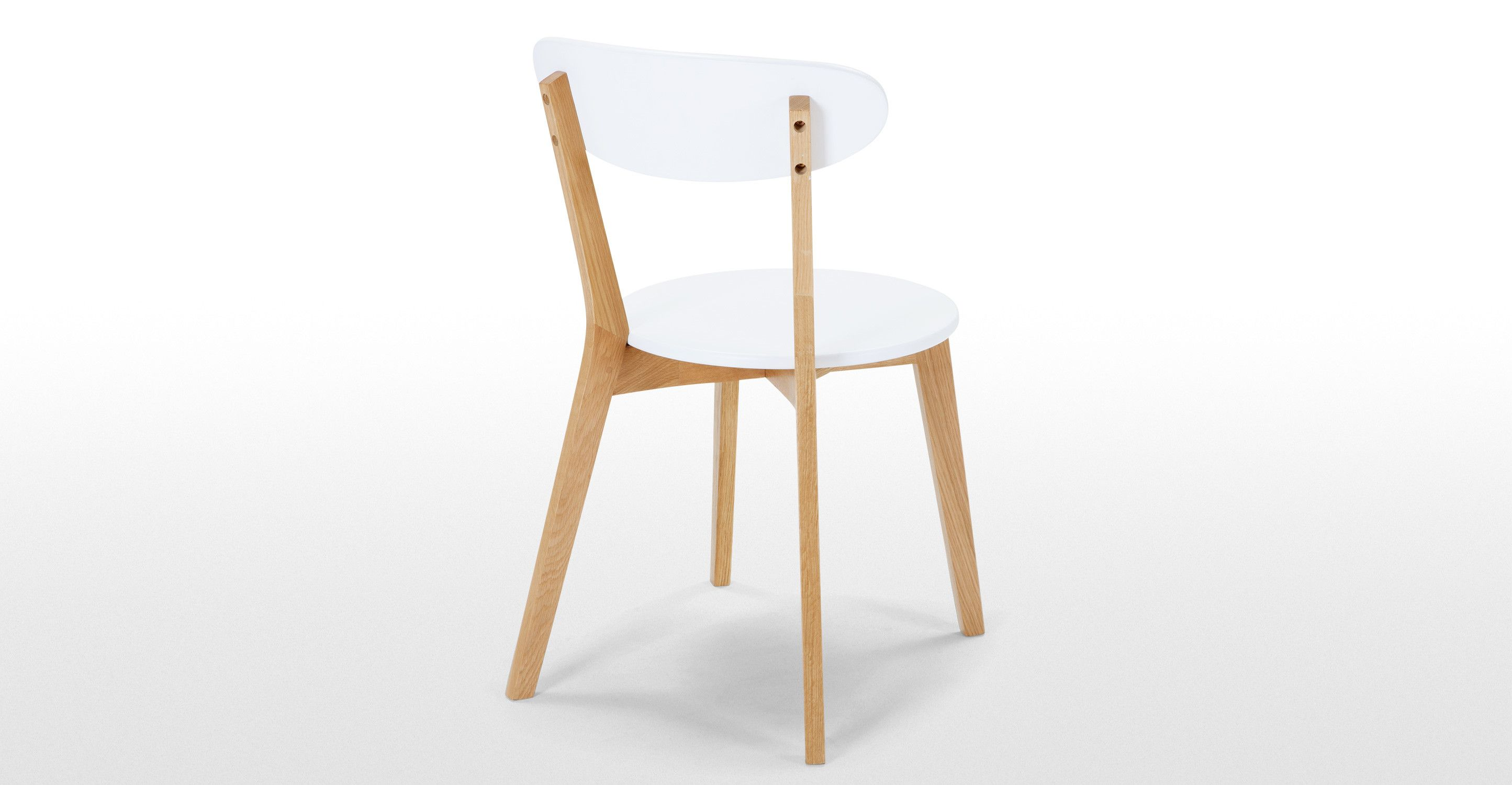 2 X Fjord Dining Chairs Oak And White Made Com Color Wood